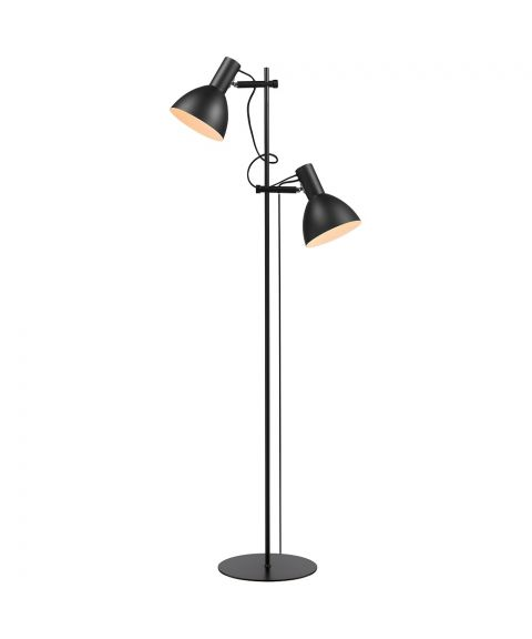 Baltimore dobbel gulvlampe, høyde 150 cm, Sort