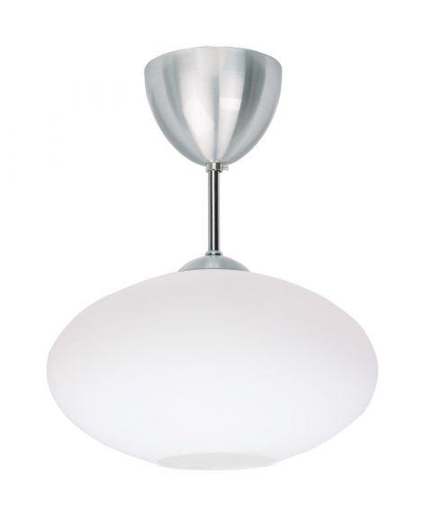Bullo P2235 nedpendlet taklampe, diameter 27 cm, Opalt glass