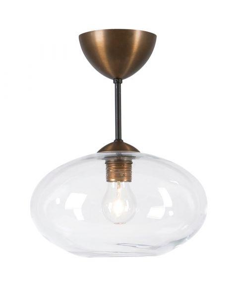 Bullo P2235 nedpendlet taklampe, diameter 27 cm, Klart glass