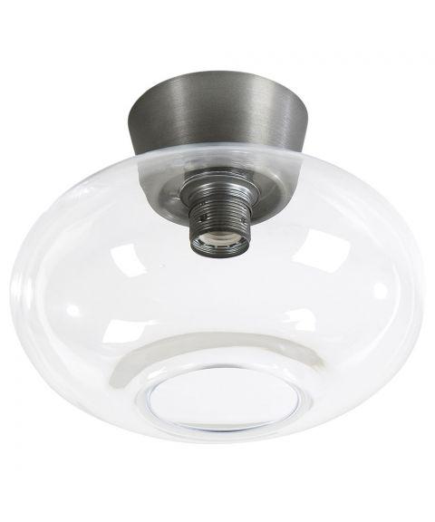 Bullo P2236 taklampe, diameter 27 cm, Klart glass