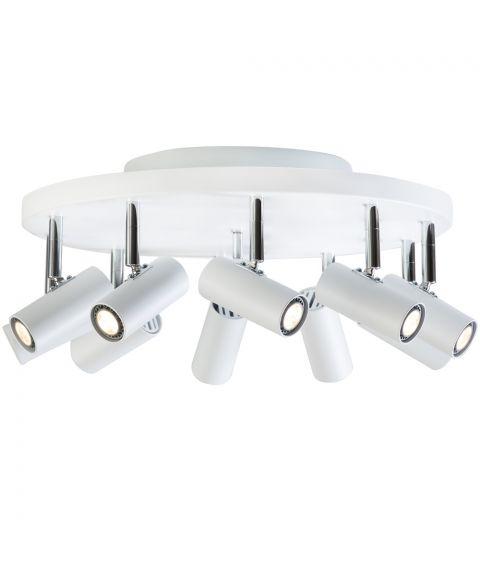 Cato S6018 takspot, inkl 10 x LED-pærer, Matt hvit