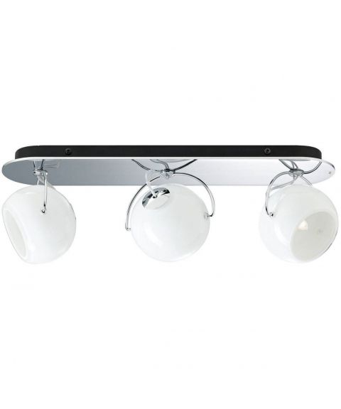 Beluga trio taklampe, Opalhvitt glass