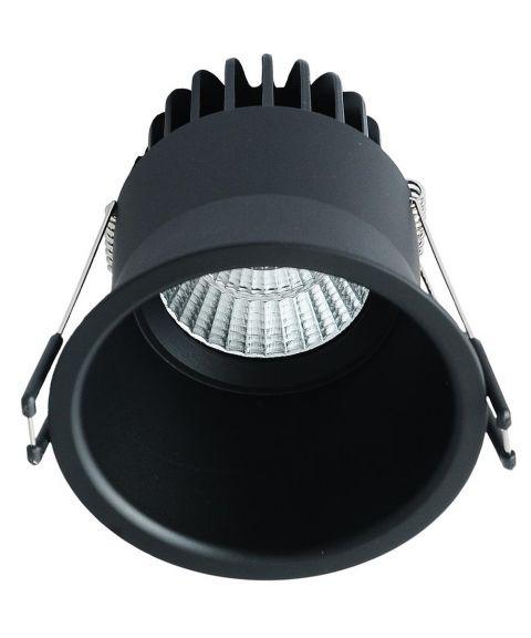 D90 downlight, dimbar 9W LED, diameter 9 cm