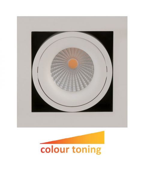 Dakota downlight, 30°, 6W LED, Colour toning, dimbar