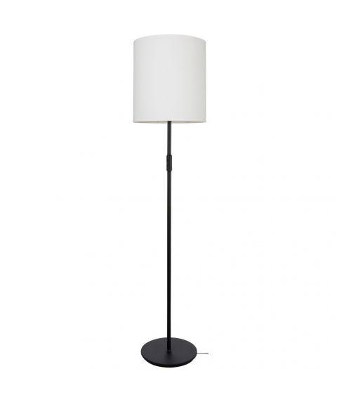 Dual G3073 gulvlampe (u/skjerm), høyde 177 cm, Sort struktur