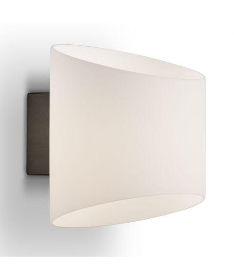 Evoke vegglampe, oval, høyde 18 cm