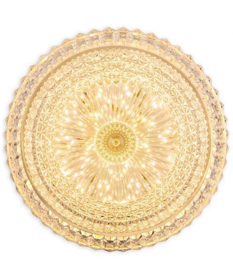 Glitter plafond, diameter 28 cm, 18W LED 2800K 1440lm, 3 step-dimming