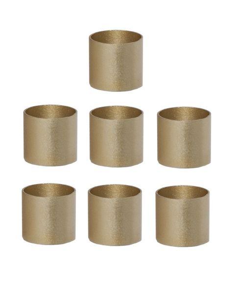 Mansjett metallhylse 2 cm for lysestaker 7-pk, Gull