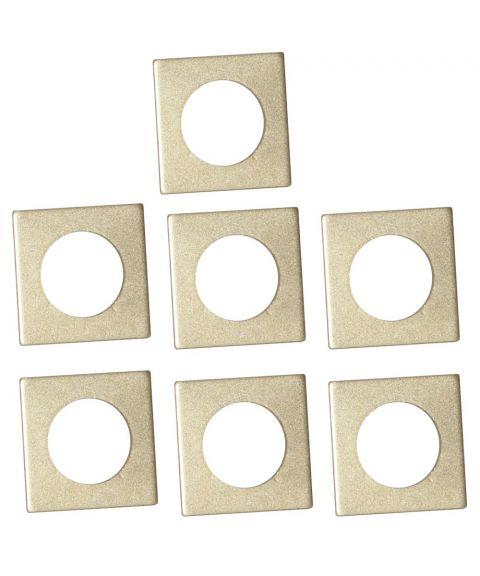 Mansjett firkantet for lysestaker 7-pk, Gull