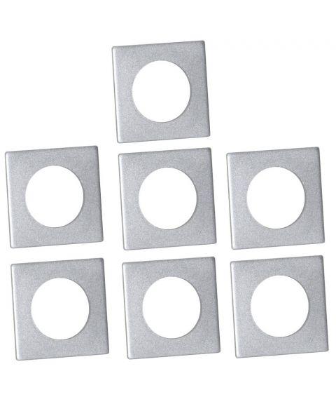Mansjett firkantet for lysestaker 7-pk, Sølv