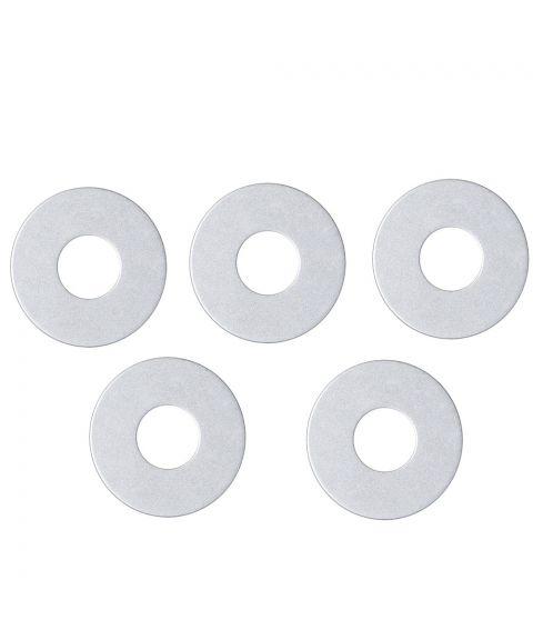 Mansjett metallring for lysestaker 5-pk, Sølv
