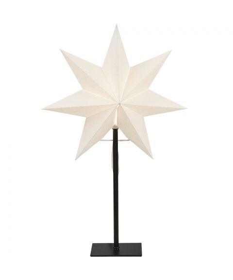 Frozen stjerne på fot, høyde 55 cm, Hvit