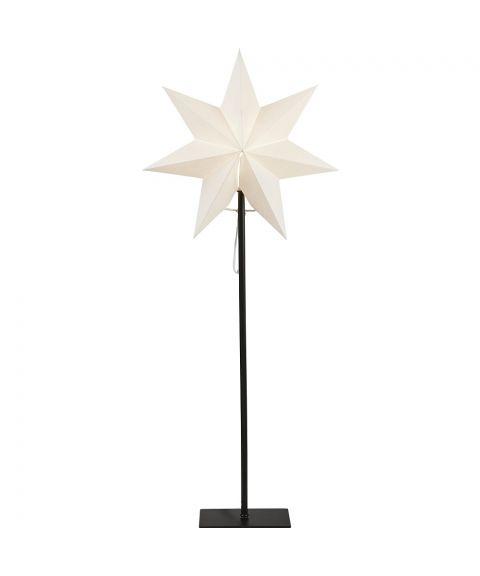 Frozen stjerne på fot, høyde 85 cm, Hvit