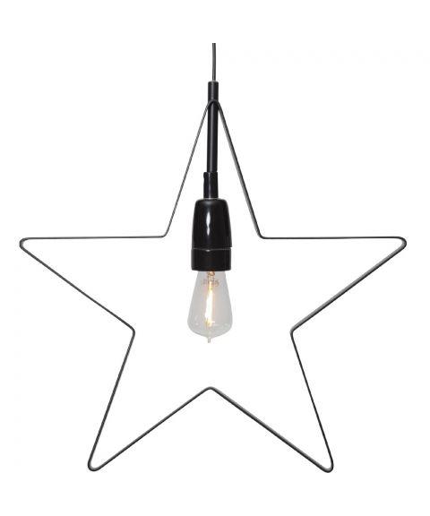 Orbit Stjerne, hengende, diameter 33 cm, Sort