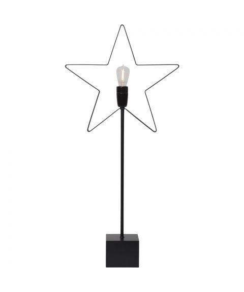 Orbit Stjerne på bordfot, høyde 70 cm, Sort
