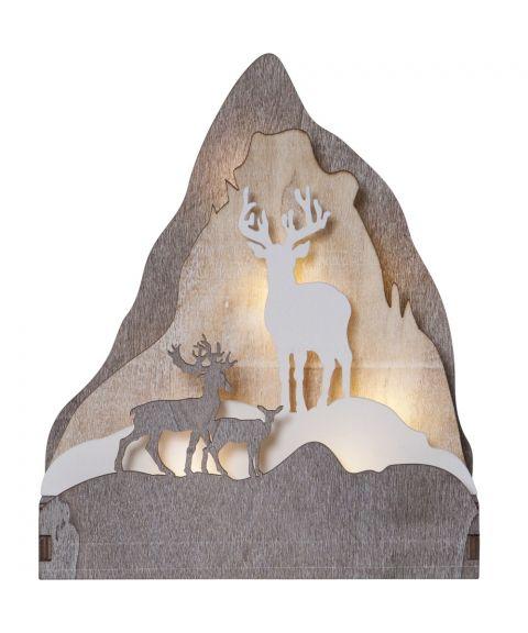 Fauna borddekorasjon med reinsdyr, for batteri, høyde 21 cm