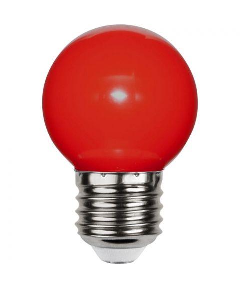 Decoration E27 Krone 1W LED, Rød