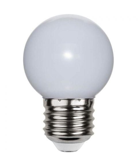 Decoration E27 Krone Opal 6500K (ekstra kaldt lys) 1W LED 15lm