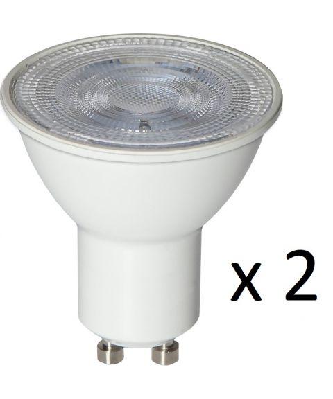 GU10 36° 2W LED 3000K 170lm 2-pk