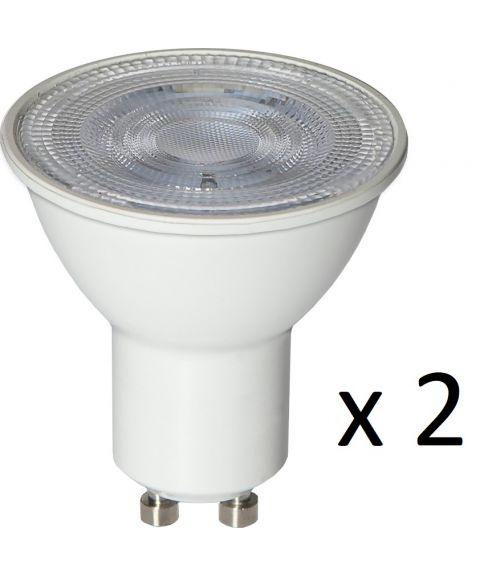GU10 36° 4W LED 3000K 360lm 2-pk