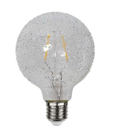 Globe E27 95mm Crisp White 2600K 1W LED 65lm, Dimbar