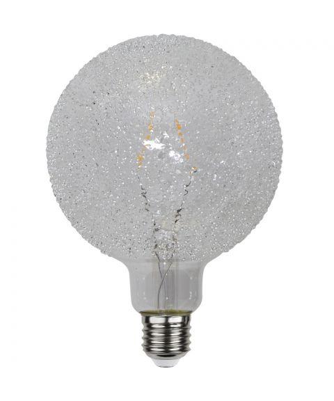 Globe E27 125mm Crisp White 2600K 1W LED 65lm, Dimbar