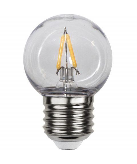 Decoration E27 Krone 2700K 1,3W LED 130lm, Polykarbonat