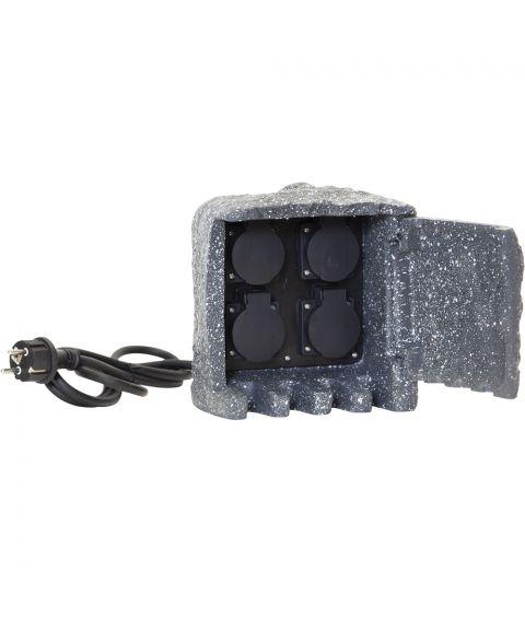 Plugge forgrener 4 stk IP44, Mørk grå
