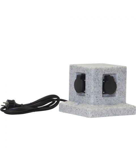 Plugge forgrener 4 stk IP44, Lys grå