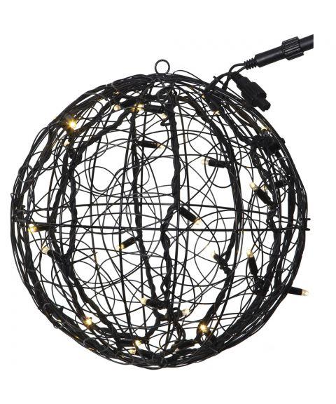 [2] Utvidelse System LED - Ball 30-lys utvidelse, Sort