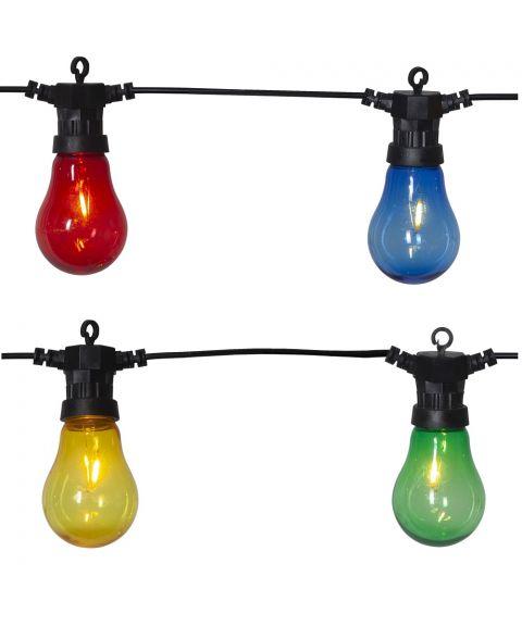 Circus Filament lysslynge, lengde 500 cm, LED (x10), Flerfarget/Sort