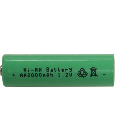Batteri AA 1,2V Ni-mh 2000 mAh oppladbart