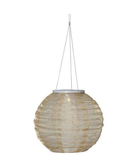 Festival risball, Solcelle, diameter 25 cm, Beige