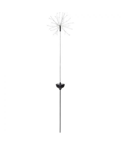 Firework på pinne, høyde 100 cm, Solcelle LED (x90), Varmhvitt lys