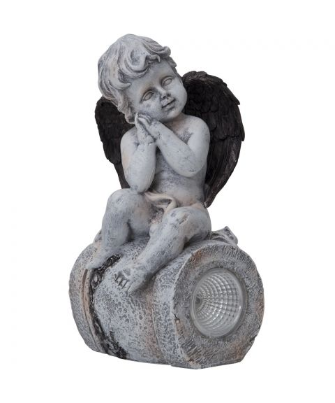 Figur engel, høyde 23 cm, Solcelle, LED