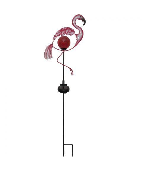 Flamingo på pinne, Solcelle, LED