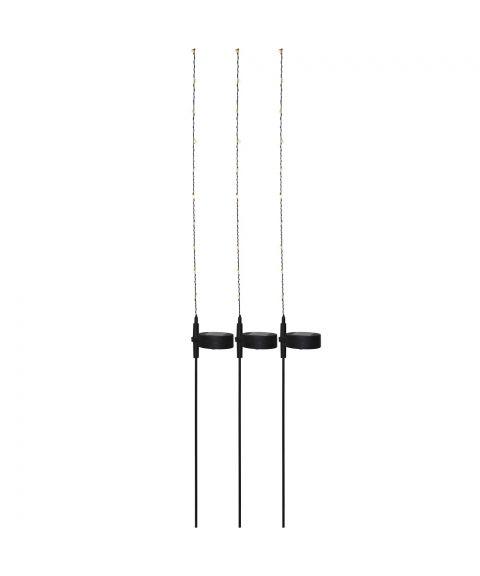 Flexy solcelle-pinner, 3-pk, høyde 80 cm