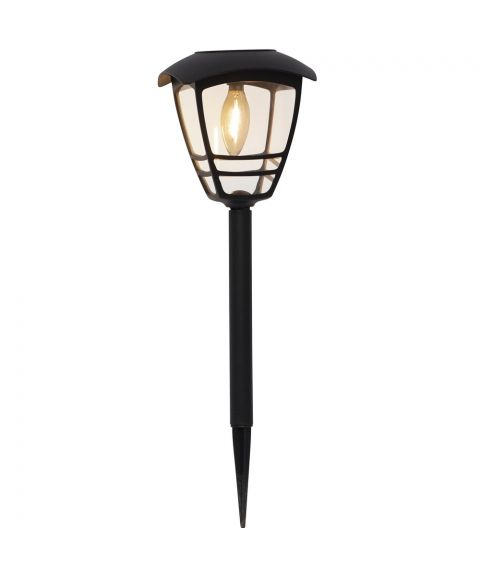 Felix lanterne med jordspyd, Solcelle, høyde 45 cm, 10 lumen, Sort