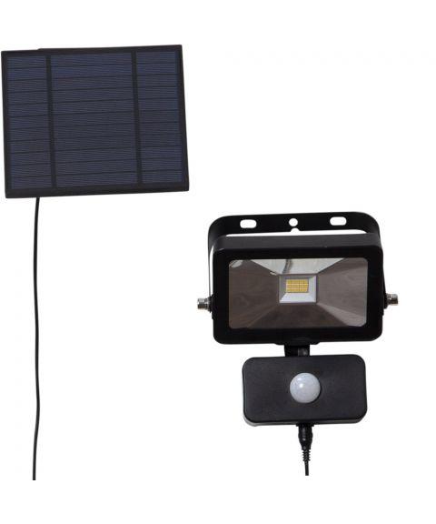 Powerspot solcelle vegglampe, 40/800lm Bevegelsessensor, Sort