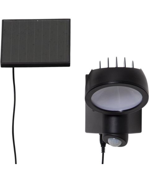 Powerspot solcelle vegglampe, 5/150lm Bevegelsessensor, Sort