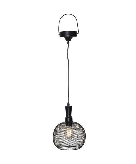 Sunlight hengende solcelle-lampe, diameter 19 cm, Sort