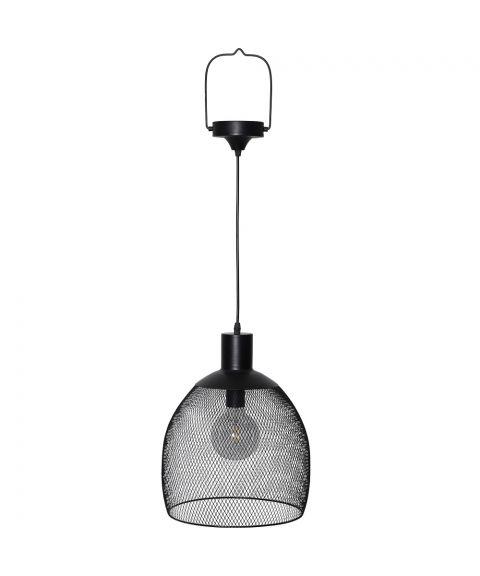 Sunlight hengende solcelle-lampe, diameter 29 cm, Sort