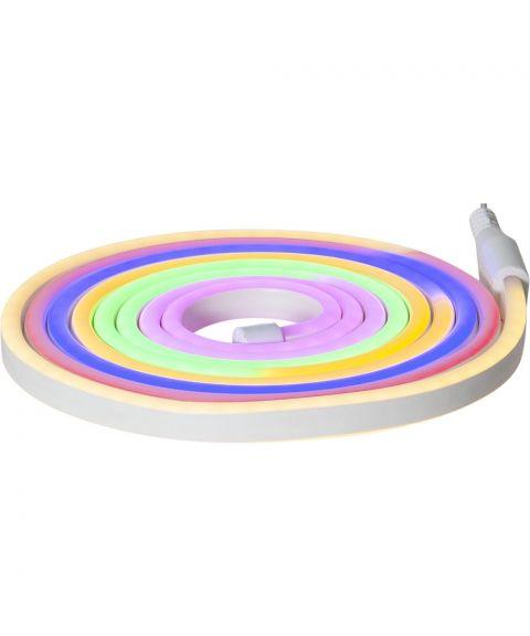 Flatneon lystau dobbelsidig 3 meter, Flerfarget lys