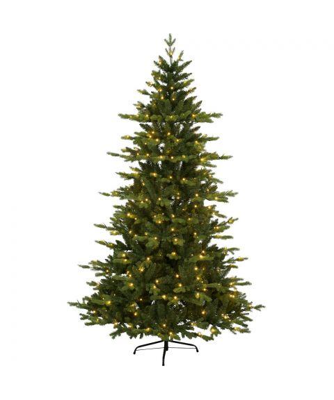 Juletre 180 cm, Larvik, Hengslet, med LED (x270), Grønn