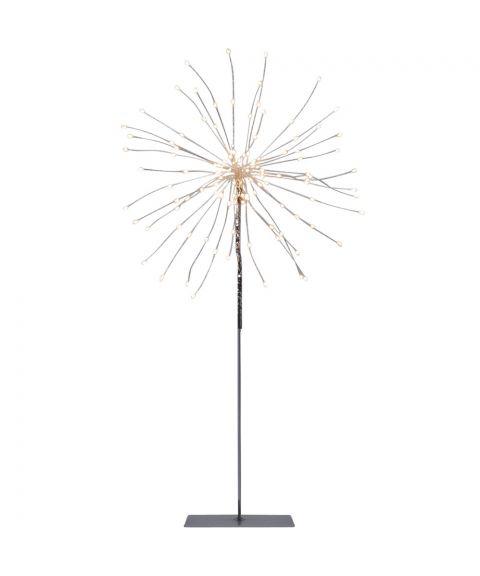 Firework Stående 50 cm, LED (x120), Sølv, Varmhvitt lys