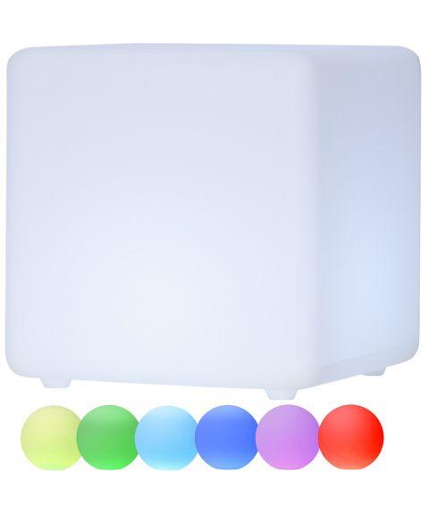 Twilights utendørs lampe RGB med fjernkontroll firkant, høyde 29 cm