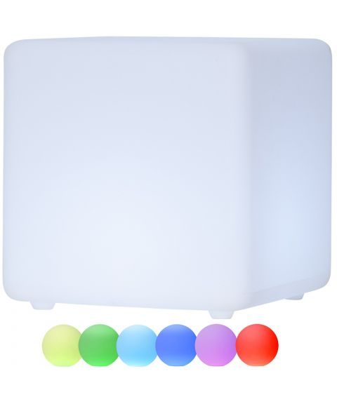 Twilights utendørs lampe 40x40 RGB med fjernkontroll firkant