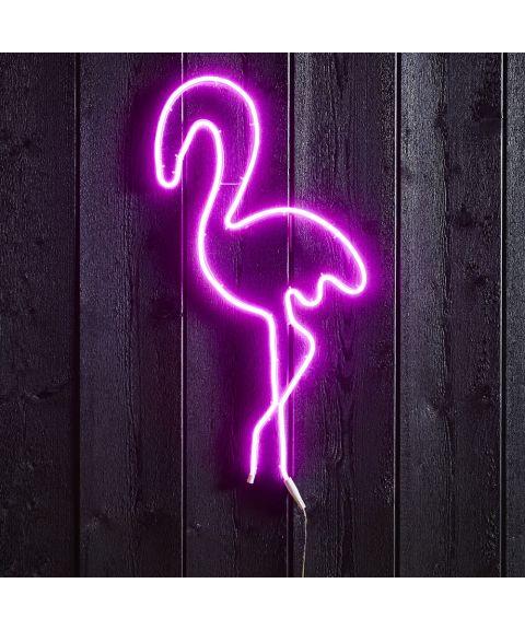 Flatneon Flamingo, høyde 74 cm