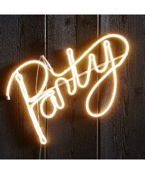 Flatneon Party, bredde 50 cm