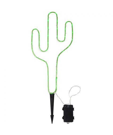 Tuby utendørs siluett for batteri (3xC), med timer, Kaktus